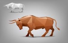 牛 剪纸矢量素材