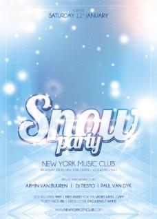 snowparty创意海报
