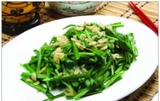 虾皮炒韭菜图片