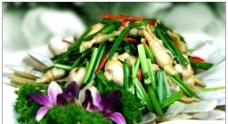 韭菜炒蛏子图片