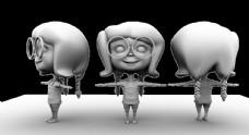 卡通角色模型图片