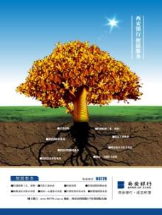 西安银行企业文化展板设计