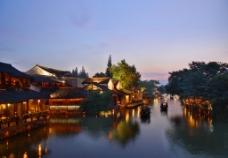 桐乡乌镇夜景图片