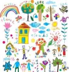 儿童风格涂鸦图片