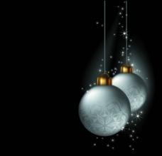 圣诞节吊球 松枝图片