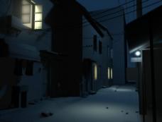 城镇夜晚图片