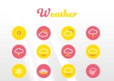 天气扁平化图标weather图片