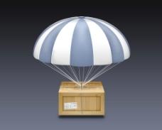 快递降落伞图片