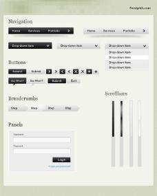 黑白UI界面模板