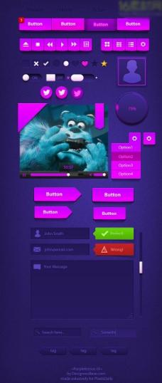 紫色UI模板