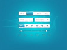 蓝色界面模板