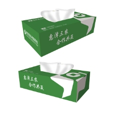 纸抽盒展开图标志应用设计