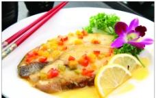 西式煎鲽鱼图片