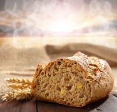 全麦面包 小麦图片