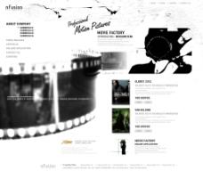 电影公司网站首页设计图片