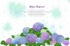 蓝色花朵 花层图片