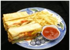俱乐部三明治图片
