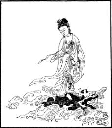 中国宗教人物插画素材76