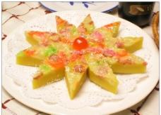 五彩椰茸糕图片