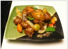 鸡肉丸烧豆包图片
