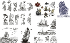帆船花鸟图片