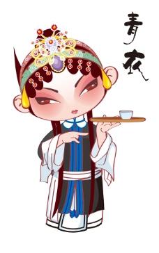 京剧卡通人物 青衣