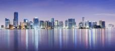 佛罗里达州 迈阿密 海岸 黄昏图片