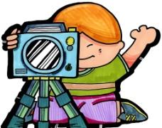 爱摄影的小女孩图片