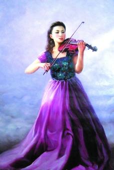 小提琴独奏图片