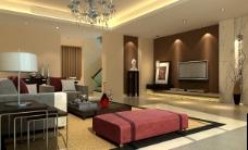 3D客厅模型
