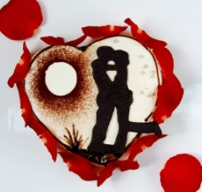 情人节爱心蛋糕图片