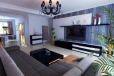 家居客厅模型