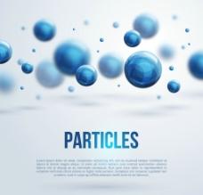 藍色粒子科技背景矢量素材圖片