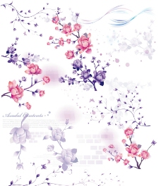 手绘花朵PSD分层素材图片