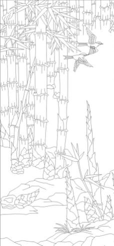 线条简笔画竹子