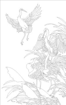 白鹤图图片