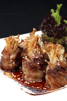 金菇牛肉卷图片