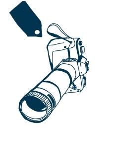 手绘长焦相机素材图片