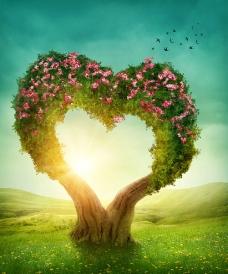 爱心树图片