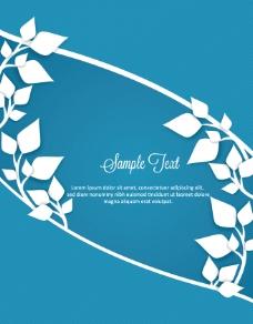 蓝色广告背景设计图片