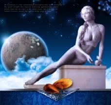 女神像海报