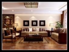 复古中式客厅