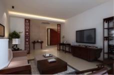 简单大气中式客厅
