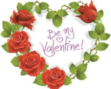 玫瑰 爱心 情人节图片
