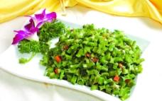 榄菜肉沫四季豆图片
