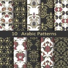 阿拉伯花纹无缝背景