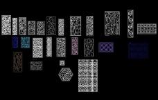 中式欧式花纹密度板雕花CAD图库