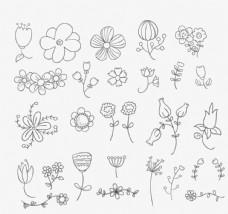 26款手繪花朵設計矢量素材