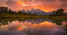 黄昏夕阳图片