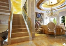 餐厅和楼梯